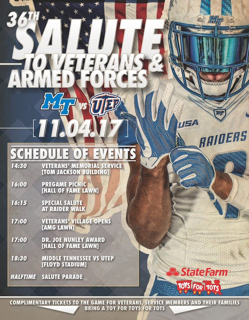 MTSU Salute to Veterans and Armed Forces