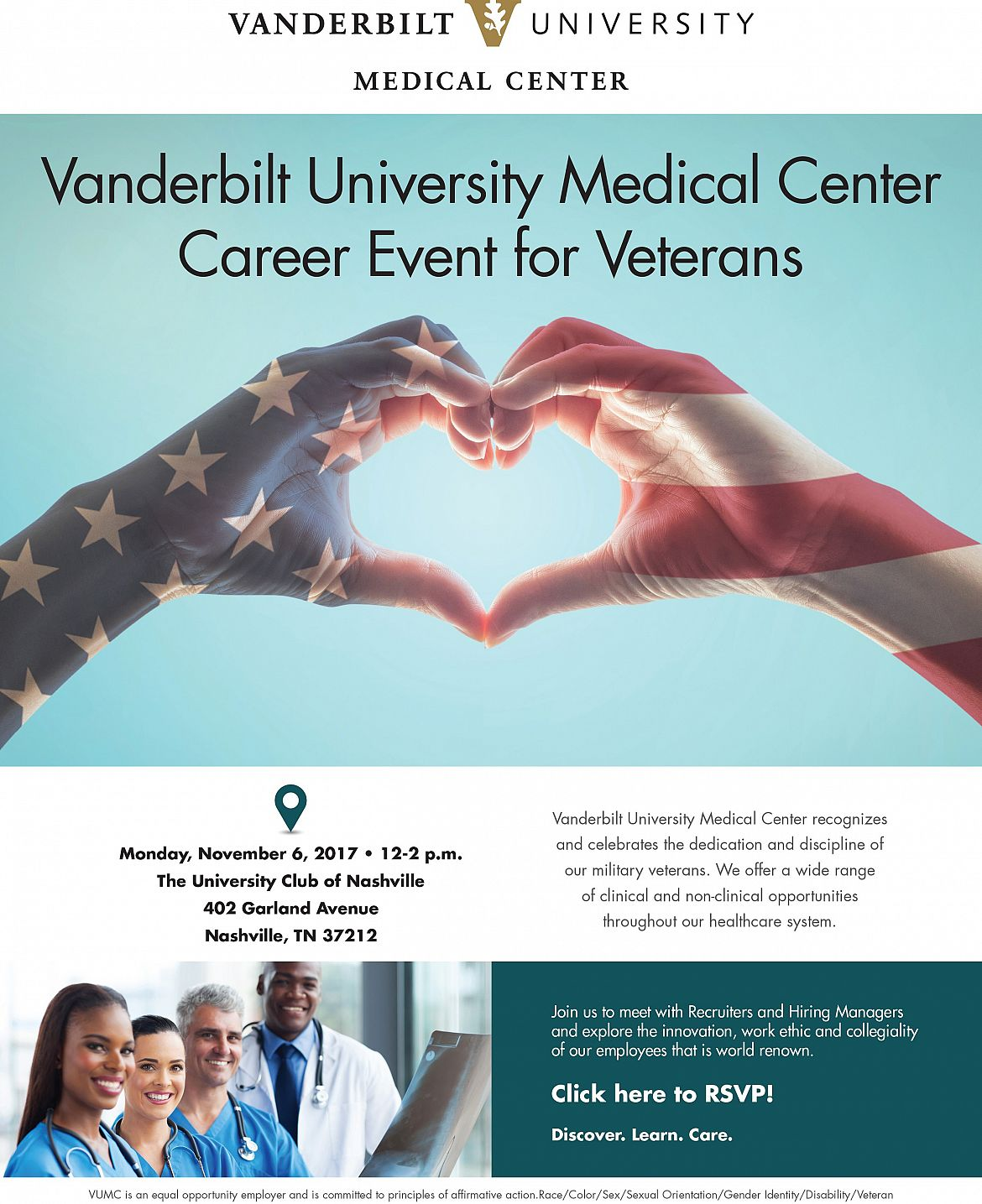 Vanderbilt University Medical Center Career Event for Veterans